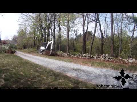 Mini Excavator Clearing Trees