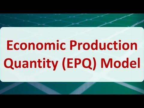 Operations Research 14C: Economic Production Quantity (EPQ) Model