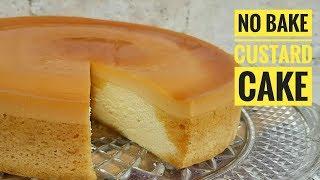 No bake Custard Cake | How to make Custard Cake (Steamed Cake)