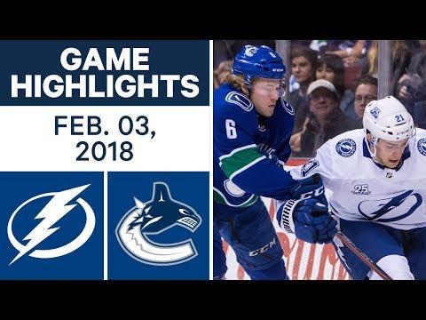 NHL Game Highlights | Lightning vs. Canucks - Feb. 03, 2018