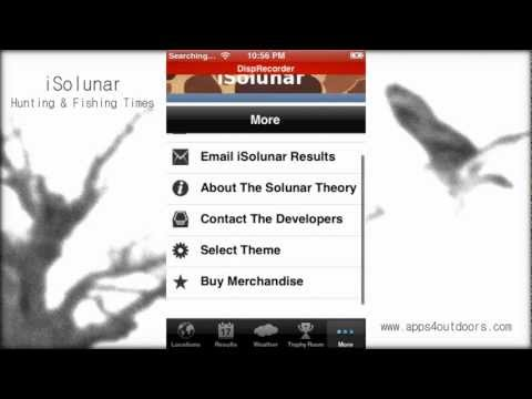 iSolunar Hunting & Fishing Times - App review