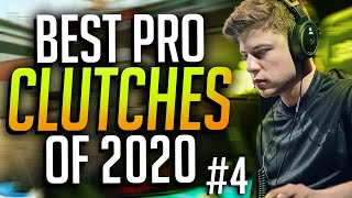 THE BEST PRO CLUṪCHES OF 2020 #4! (RIDICULOUS PLAYS) - CS:GO
