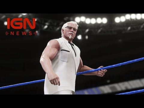 WWE 2K18: KFC's Col. Sanders Enters the Ring - IGN News