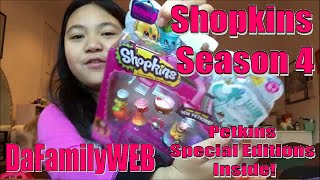 It's Shopkins Season 4!  We have the exclusive new 12 pack! Petkins, Limited Editions? Moose Toys