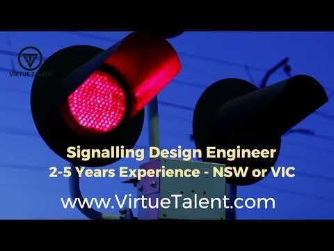 Signalling Design Engineer Job Rail Signalling Australia Virtue Talent Youtube
