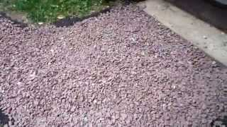 We build a recessed  gravel pathway.