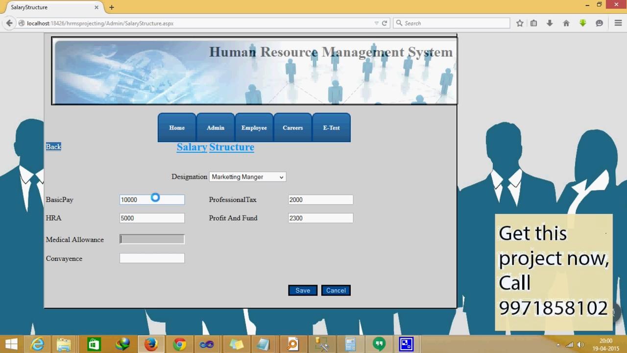 HR Management System Complete in ASP Net | www finalsemproject com