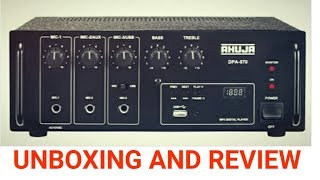 Ahuja pa amplifier DPA-570 unboxing and review...