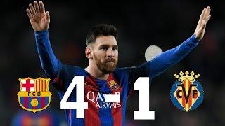 Msn!!! fc barcelona vs villarreal 4-1 ...