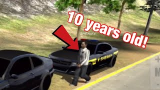 When the Officer is 10 Years Old | Car Parking Multiplayer RP