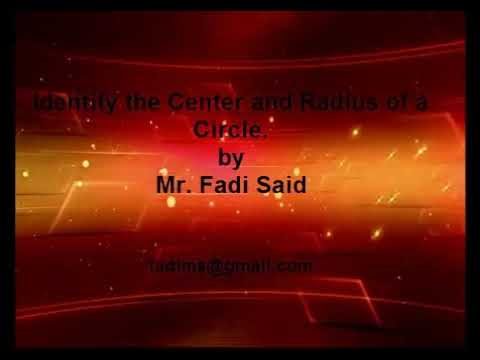 Graph circle with Center and radius