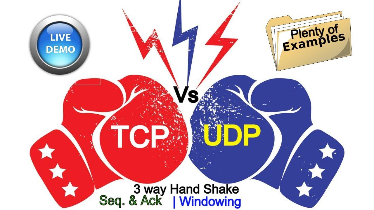 TCP - UDP - TCP vs UDP - [ Easy Step by step Illustrative ...