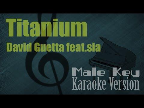 David Guetta ft. SIA - Titanium (Male Key) Karaoke Piano Version | Ayjeeme Karaoke