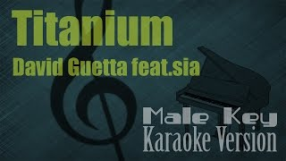 David Guetta ft. SIA - Titanium (Male Key) Karaoke Piano Version | Ayjeeme Karaoke