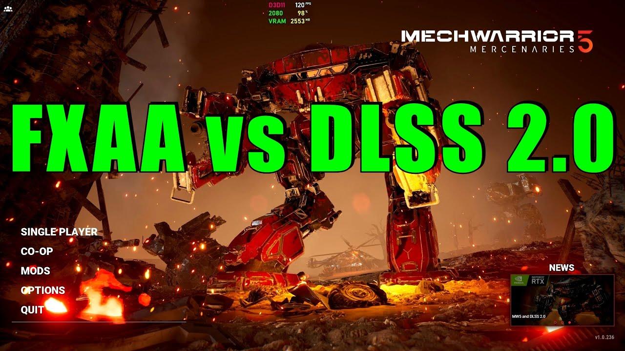 MechWarrior 5 Mercenaries: FXAA vs DLSS 2.0