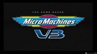 Micro Machines V3 gameplay (PC Game, 1997)