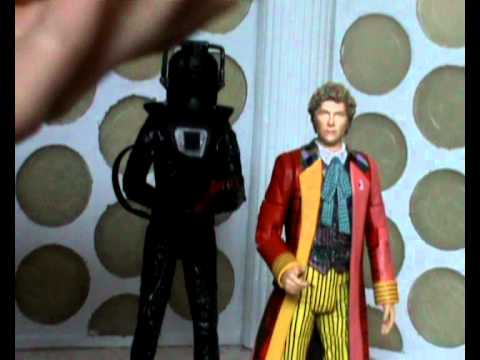 Doctor Who Action Figure Review: Stealth Cyberman & Sixth Doctor from