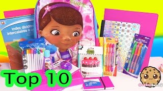 TOP 10 Back To School $1 Dollar Tree Haul Must Haves + Disney Doc Mcstuffins Backpack - Cookiswirlc