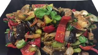 61. Овощи жаренные в сковороде Вог.Vegetables fried in a frying pan Vogue.