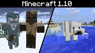 Minecraft 1.10 - New Mobs! Polar Bear, Stray, Husk, New Spawn Eggs