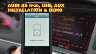 Audi A6 IPOD USB Mp3, Dension GW51MO2 DEMO & Install, ( GW52MO2 ) by Autotoys.com
