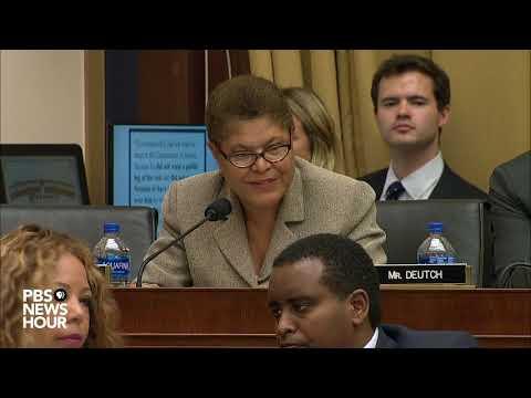 WATCH: Rep. Karen Bass asks Corey Lewandowski why he avoided a paper trail | Lewandowski hearing