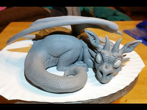 Polymer Clay Dragon Timelapse Youtube