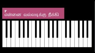 Ennai Valladikku Neeki Song Keyboard Chords and Lyrics - F Major Chord