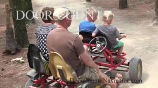 Making Memories in Door County - Pedal Carts at PC Junction
