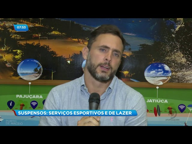 Coronavírus: Serviços esportivos e de lazer em Maceió foram suspensos