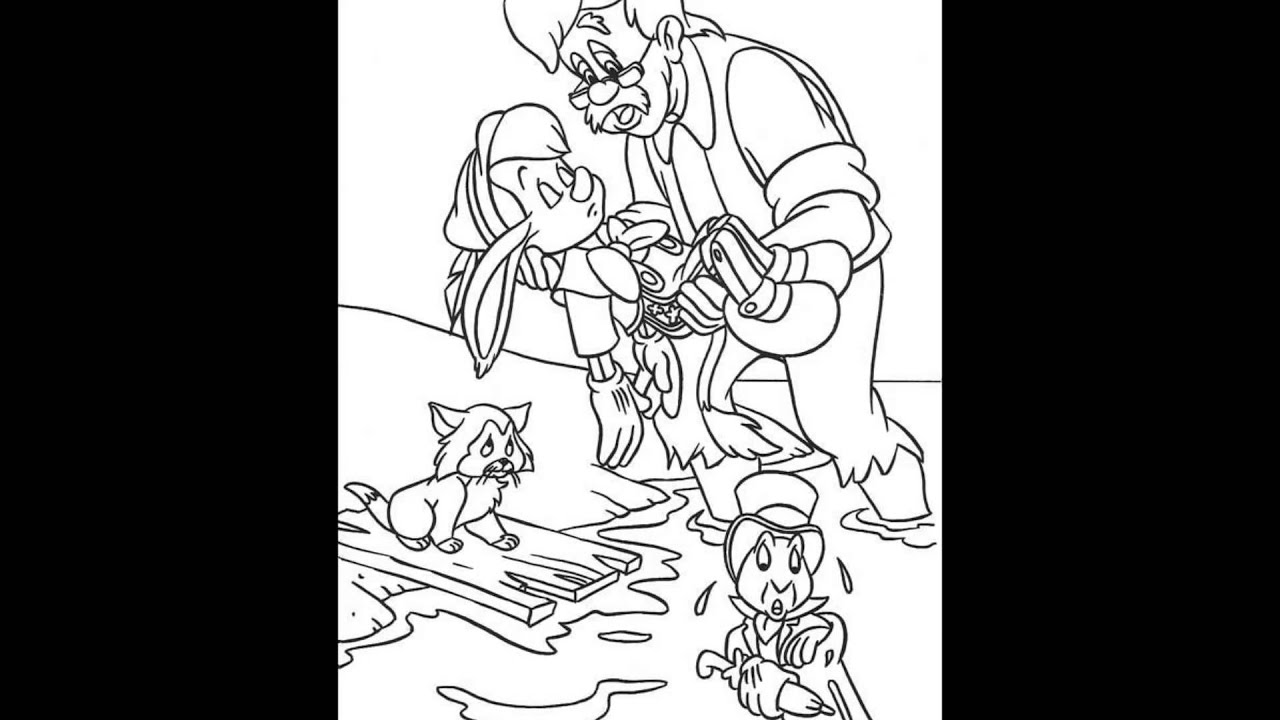 pinnochio coloring pages and games - photo#21