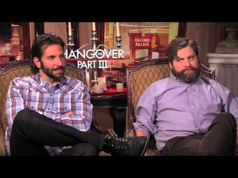 Bradley Cooper jokes with co-stars Zach Galifianakis & Ed Helms about ANOTHER HANGOVER film!