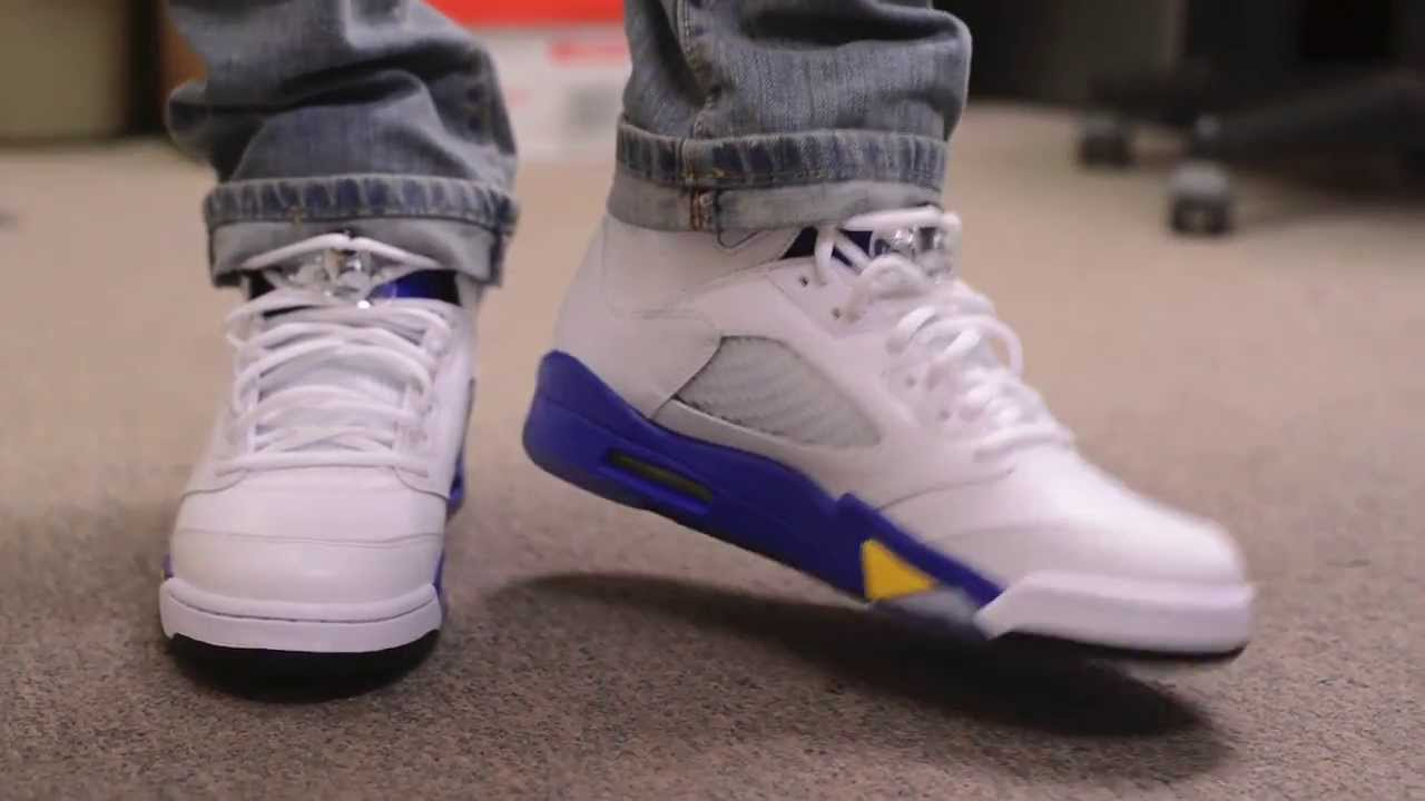 7b1a63c53cc9 ... low price air jordan 5 v laney unboxing and on feet review youtube  74b2f 50c66