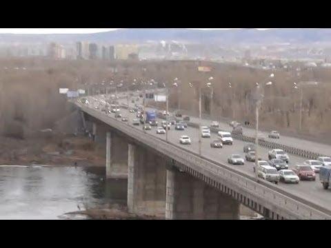 Красноярск. Октябрьский мост. Гипермаркет Июнь.