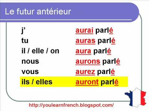 french lesson 150 le futur ant rieur future perfect