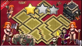 Th9 war base Anti Valkyrie Anti bowlers PROOF!! With REPLAYS Anti 2 star anti everything.
