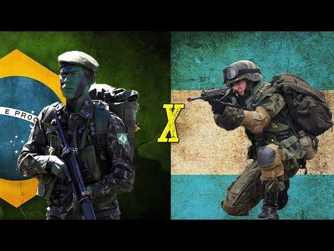 Brasil x Argentina - Comparação Militar