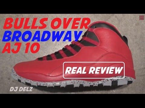 6ea45e8896508f Air Jordan 10 Bulls Over Broadway Sneaker Real Review With  DjDelz ...