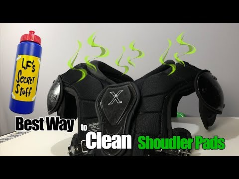 How I Clean my Shoulder Pads