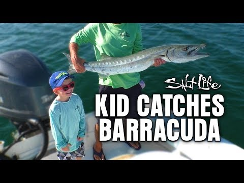 5 Year Old Catches Barracuda | Salt Life