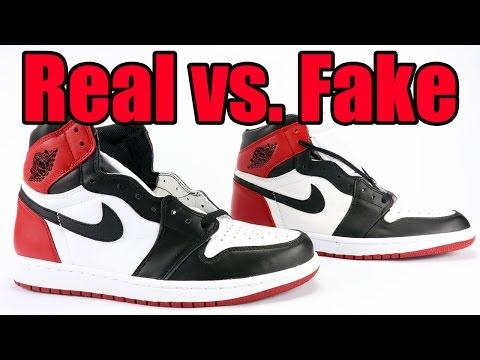 41c4818521c Real vs Fake Air Jordan 1 Black Toe 2016 Legit Check - YouTube