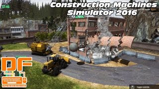 Construction Machines Simulator 2016 - On construit et détruit des batiments ! || P&G [FR]