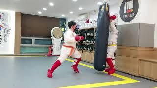 공수도온라인대회참가(초등부) 대련 대한공수도 김승연