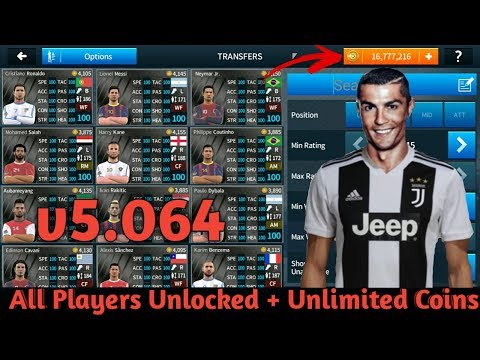 DREAM LEAGUE SOCCER 2018 MOD APK 5.064 Hack & Cheat No Root (All Players Unlocked + Unlimited Coins)