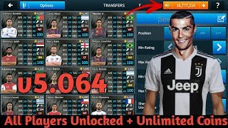 DREAM LEAGUE SOCCER 2018 MOD APK 5.064 No Root (All Players Unlocked + Unlimited Coins)