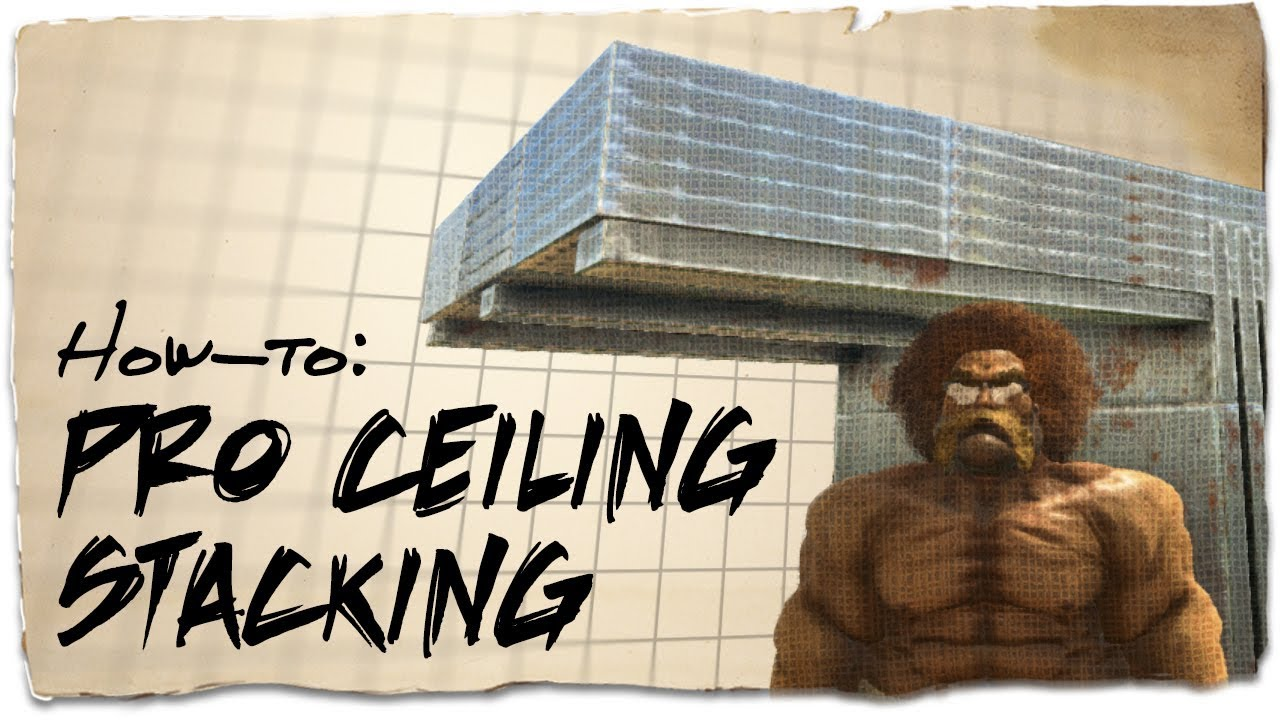 How to stack up to 6 ceilings on a PvP base | ARK: Survival Evolved |  Building Tips