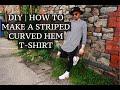 DIY | Striped Curved Hem Tee | Josh Barnett