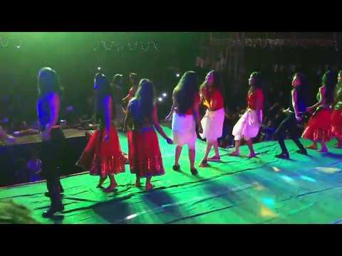 New Telugu Song Dj Remix || Village Stage Recording Dance Performance 2017