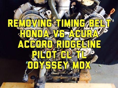 removing the timing belt on a honda acura v6 accord ridgeline pilot
