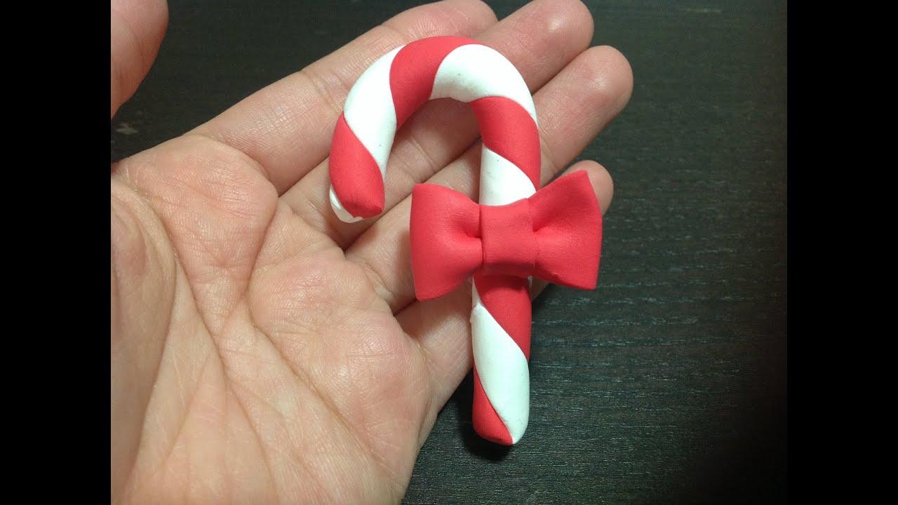 聖誕士的糖輕黏土製作 - YouTube